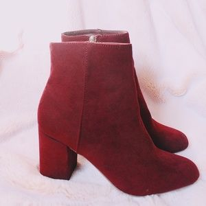 Maroon Ankle Bootie